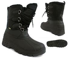 WOMENS SNOW SKI BOOTS WATERPROOF THERMAL BLACK WELLIES WINTER FUR ANKLE BOOTS