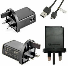 Genuine Sony Ericsson EP800 Mains Charger Adapter With Micro Usb Data Cable Blk