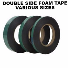 FOAM TAPE Black Strong Double Sided Self Adhesive Foam Car Trim Tape 10M