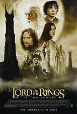 THE LORD OF THE RINGS The Two Towers Movie Poster RARE Gandalf The Hobbit
