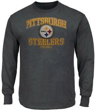 Pittsburgh Steelers NFL Mens Touchback Long Sleeve Shirt Charcoal Size 3XL