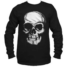 Men's Cartel Ink Death Skull Long Sleeve T-Shirt Black Punk Goth
