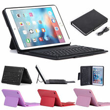 Bluetooth Keyboard Wireless Flip Leather Stand Case Cover For Apple iPad Mini 4