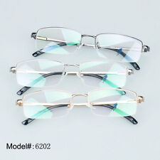 6202 half rim quality metal optical glasses spectacles frame gent men eyeglasses