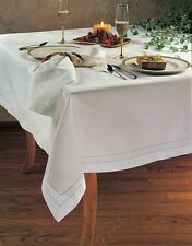 Handmade Hemstitch Swiss Dot Large Rectangualr Tablecloth. Many Sizes and Colors