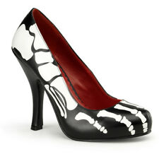 Women's Funtasma X-Ray-12 Platform Pump Black Skeleton Bones Punk Halloween