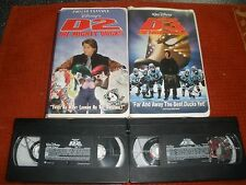 """"""" D-2 & D-3 THE MIGHTY DUCKS (V HS, 1994&1997, DISNEY PICTURES MEDIA  SHIPPING!"""