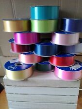 """Quality Florist Ribbon Roll (100Yards/91Metres) 2"""" Wide Floral/Weddings/Crafts"""