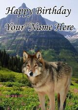 Wolf   Occasion Personalised Greeting Card Birthday Fathers Mum Nan PID258