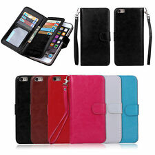 Luxury 9 Card Slot Magnetic Leather Wallet Case Flip Cover For phone 6 6S 6 Plus