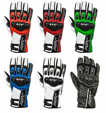 RST Stunt 2 CE Motorcycle Leather Gloves Race Track Riding RRP $109.95!