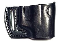 GLOCK 17/19/22/23/26/27/32/33 OWB Leather Holster Right Hand Black or Brown
