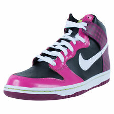 NIKE GIRLS DUNK HIGH GS BASKETBALL SHOES BLACK WHITE DESERT PINK RAVE 316604 008