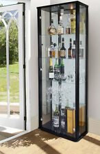 LOCKABLE RETAIL AND DOMESTIC DOUBLE GLASS DISPLAY CABINET VARIOUS COLOURS