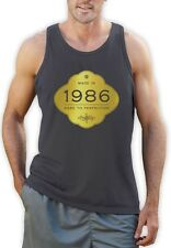 Made In 1986 - Aged to Perfection 30th Birthday Gift Singlet Golden Sign