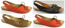 NEW $149 I love Billy Melodi Leather Peep Toe Ballet Flats Black Tan Red Womens