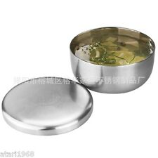 Hot Sale! Food Bowl Silver Stainless Steel + Lid  Basin Rice Bowl Best Quality