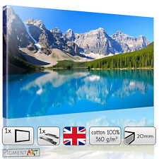 LANDSCAPE MOUNTAIN AND LAKE - CANVAS WALL ART DIGITAL PRINT PICTURE DECOR