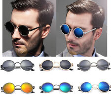 New Polarized Mirror Round Circle Sunglasses Fashion Hippie Retro Eyewear Unisex