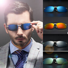 2016 HD Polarized Sunglasses Mens Mirrored Lens Outdoor Driving Fishing Glasses