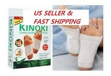 10 Pads Kinoki Detox Foot Pad Patch Detoxify Toxins + Adhesive Health Care