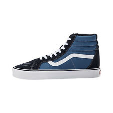 VANS SK8-HI LITE + SUEDE CANVAS NAVY WHITE MENS NEW SKATEBOARD SHOES FREE POST