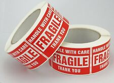 Rolls of 500 3x5 Handle With Care Fragile Shipping Labels Stickers Self Adhesive