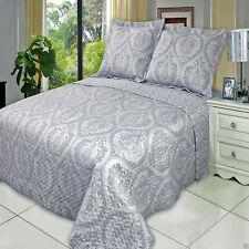 Oversized Judy Microfiber Coverlet Quilt Set with Pillow Shams AND Wrinkle Free