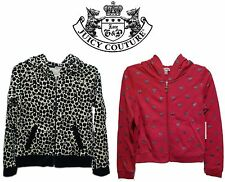 Juicy Couture Girl's Hoodie Jacket Leopard or Pink with Hearts Choose Your Size