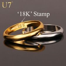 Gold Rings With 18K Stamp Quality Real Gold Plated WomenMen Jewelry Wholesale Fr