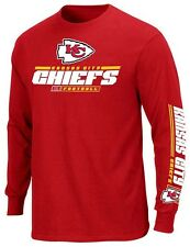 Kansas City Chiefs NFL Mens Primary Receiver Long Sleeve Shirt Red Big Sizes