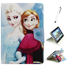 """Disney Elsa Anna PU Leather Case For 9""""~10.1"""" Inch Universal Tablet PC Kids Gift"""