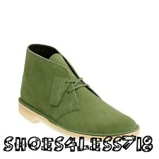 NEW CLARKS OF ENGLAND ORIGINAL GREEN LEAF LEATHER SUEDE DESERT BOOT 14405