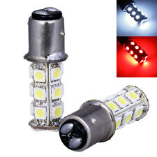 2x1157 SMD 5050 18 Red LED White Car Brake Tail Rear Signal Stop Light Lamp Bulb