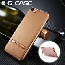 G-Case Original Leather Case Plating Alloy Cover With Stand For iPhone 6S/6/Plus