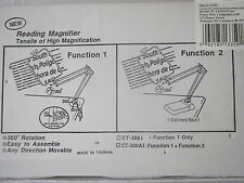 4X Reading Magnifier with Stationary Base CT-3036A1 BRAND NEW