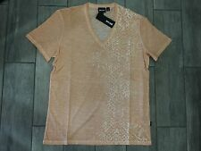 JUST CAVALLI Mens T-Shirt Short Sleeve V Neck S01GC0243 180 - New With Tags