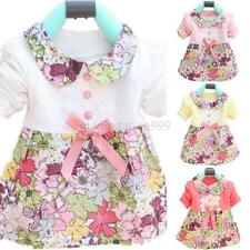 Children Kids Princess Girls Floral Skirt Dress Bow One Piece Skirt Clothing M61
