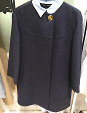 ZARA WOOL HANDMADE COAT NAVY BLUE XS-XL REF. 7522/246