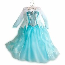 Authentic Disney Store Frozen Elsa Ice Princess Dress Costume Size 5-6 and 7-8