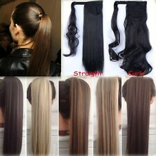 us stock Clip In Ponytail Pony Tail Hair Extension Wrap On Hair Piece Style TERE