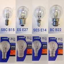 Low Energy Saving Dimmable Halogen Golf Ball Round Light Bulbs BC SBC ES SES