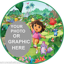 Personalised Dora The Explorer  Edible Cake Topper Own Image/Text  Wafer/Icing
