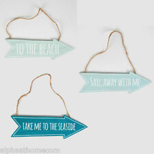 Wooden Hanging To the Beach, Seaside Signs, Blue Nautical, Sea Gift Sass & Belle
