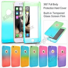 360° Luxury Ultra-thin Shockproof Armor Back Case Hard Cover for iPhone &Samsung