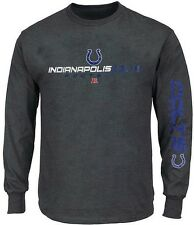 Indianapolis Colts NFL Majestic Primary Reciever Shirt Charcoal Big & Tall Sizes