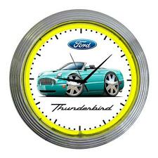2002-05 Ford Thunderbird Classic Neon Clock NEW