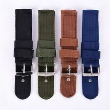 New Militray Army Nylon Canvas Wrist Watch Band Strap #G 18mm 20mm 4 Color Pop