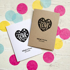10 x personalised heart lottery ticket scratch card holder wedding favour cards