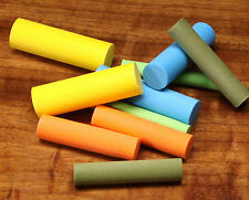 """FOAM CYLINDERS for POPPER BODIES by RIVER ROAD -- Fly Tying 3/4"""" & 5/8"""""""
